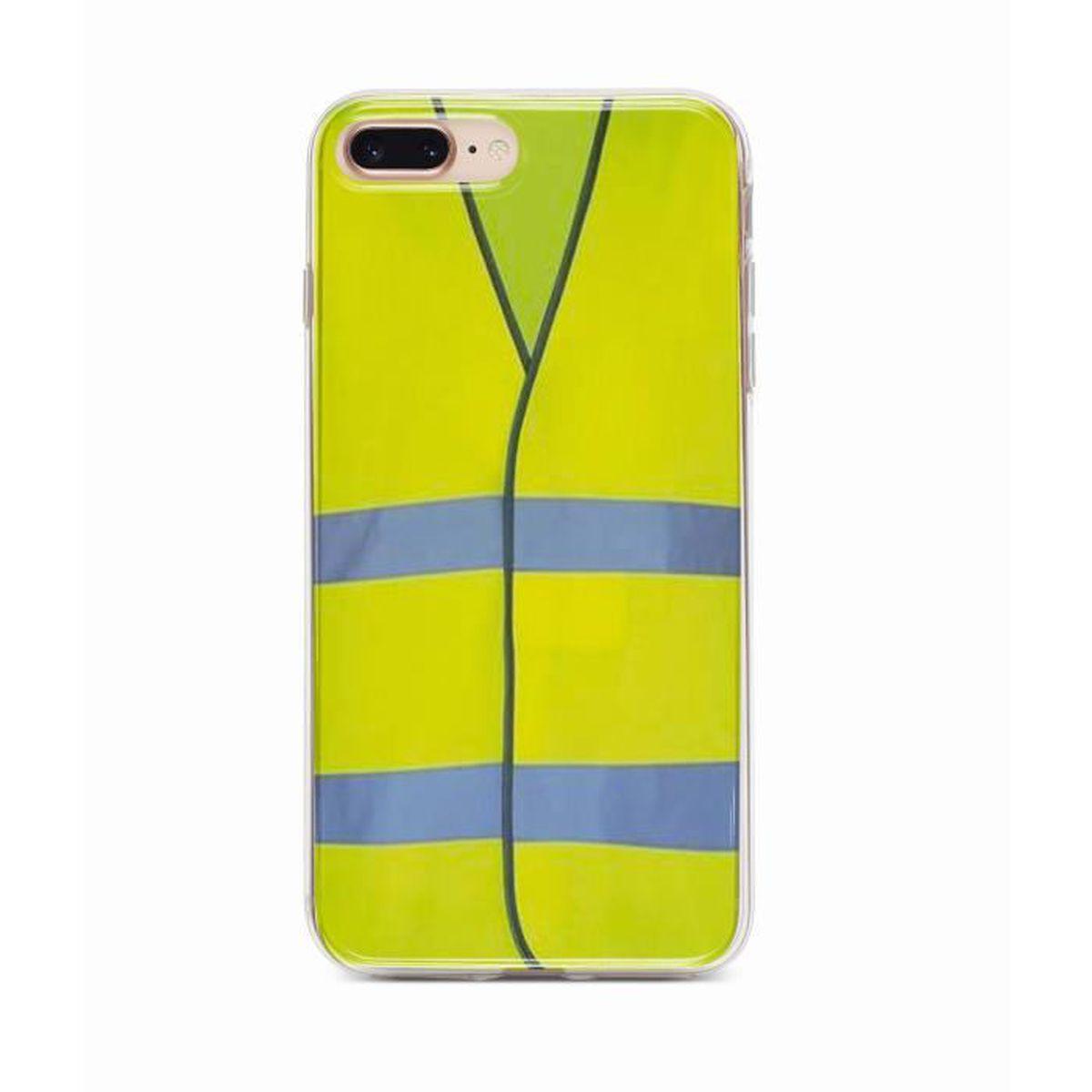 coque iphone 8 plus gilet jaune housse telephone