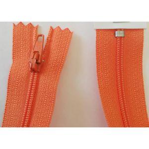 5 FERMETURES eclair FINE POLYESTERE 30 cm COLORIS ORANGE pochette coussin jupe R