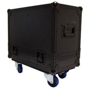 COFFRE - MALLE Black Case CLA801 Flightcase avec Roulettes pour 2