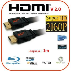CÂBLE TV - VIDÉO - SON NGI®-Cable HDMI 2.0V 1m PRO 3D HIGH SPEED 4K Ultra