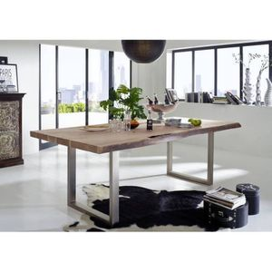TABLE À MANGER SEULE Table à manger 150x100cm – Fer et bois massif d'ac