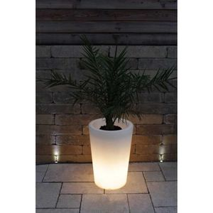 JARDINIÈRE - BAC A FLEUR Pot de glowtub Pot colonne à fleurs round lumineux