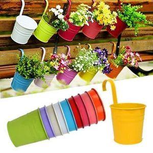 JARDINIÈRE - BAC A FLEUR ss-33-10pcs Pots de Fleurs Suspendu Colorés en Mét
