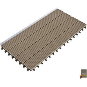 DALLAGE Lot de 6 Dalles clipsables 30 x 60 cm - Terrasse B
