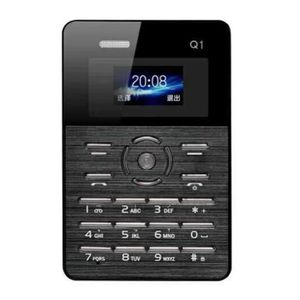 Téléphone portable Mini Telephone portable noir Carte Téléphone Mobil
