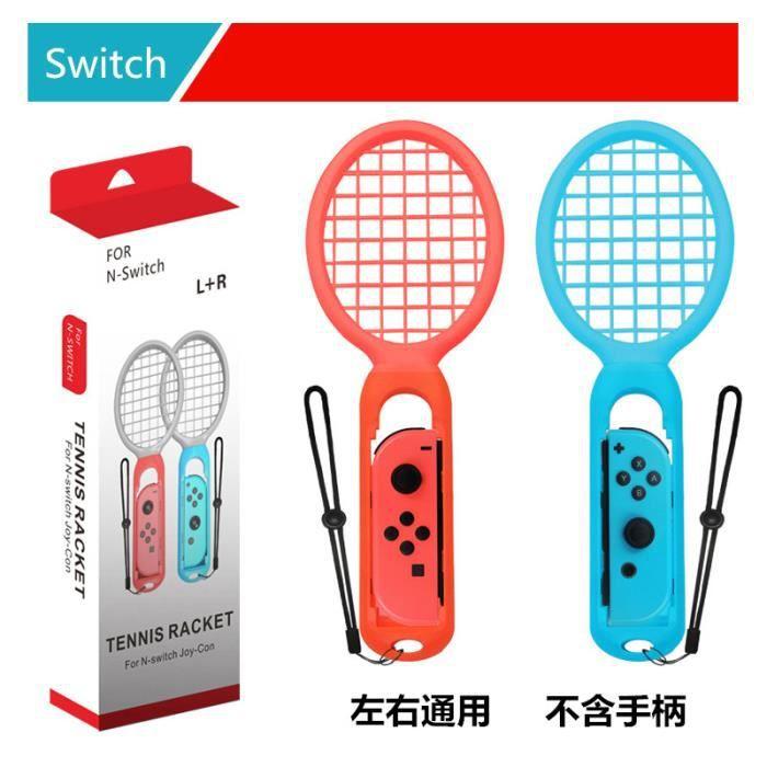 Switch Mario Raquette de Tennis Nintendo Mario ACE Raquette de Tennis Somatosensorielle Accessoires de Jeu Rouge et Bleu