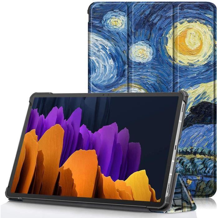Étui pour Samsung Galaxy Tab S7+ - Housse Ultra Mince et Léger à Rabat avec Support et Fonction Réveil/Sommeil Automatique po11557