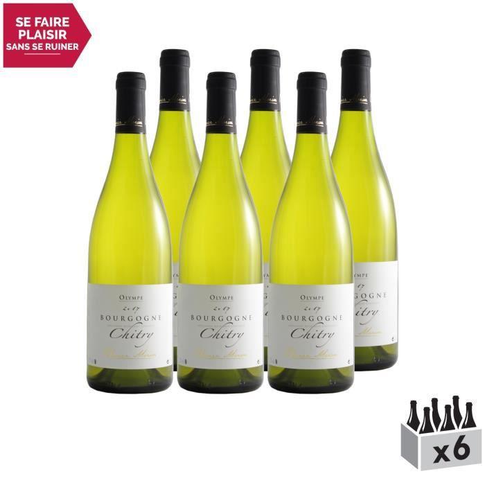 Bourgogne Chitry cuvée Olympe Blanc 2017 - Lot de 6x75cl - Domaine Olivier Morin - Vin AOC Blanc de Bourgogne - Cépage Chardonnay