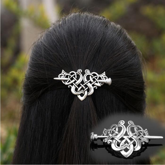 Serre tete_Couvre-chef headband femme À Cheveux Côté Antique Pince À Cheveux Clip Celtics Noeuds À Cheveux Rétro Bijoux Bijoux