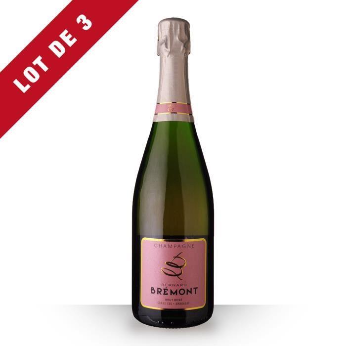 3X Bernard Bremont Brut Rosé 75cl Grand Cru - Champagne