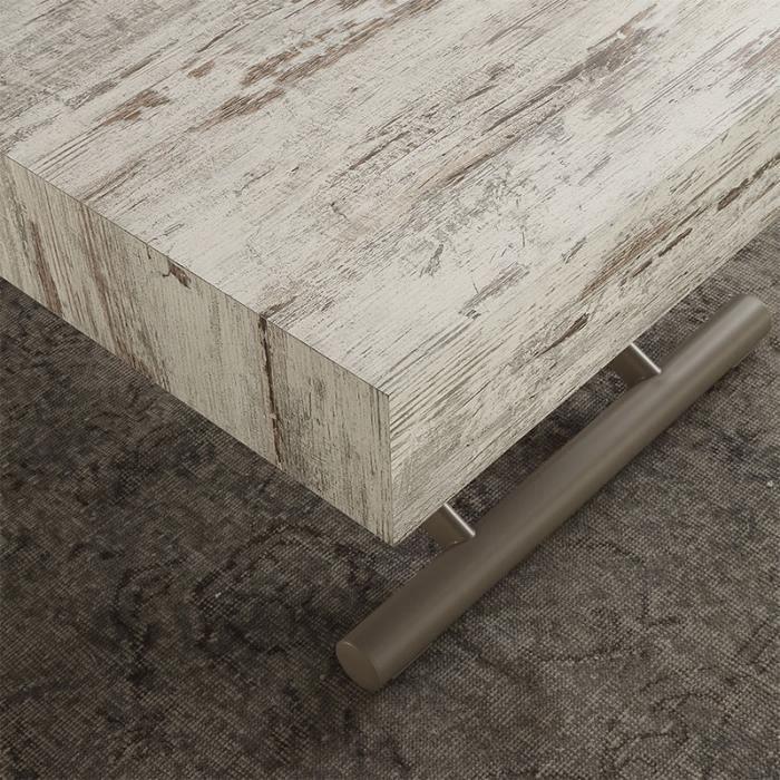 Table basse relevable couleur wengé ALFONSO Option 3