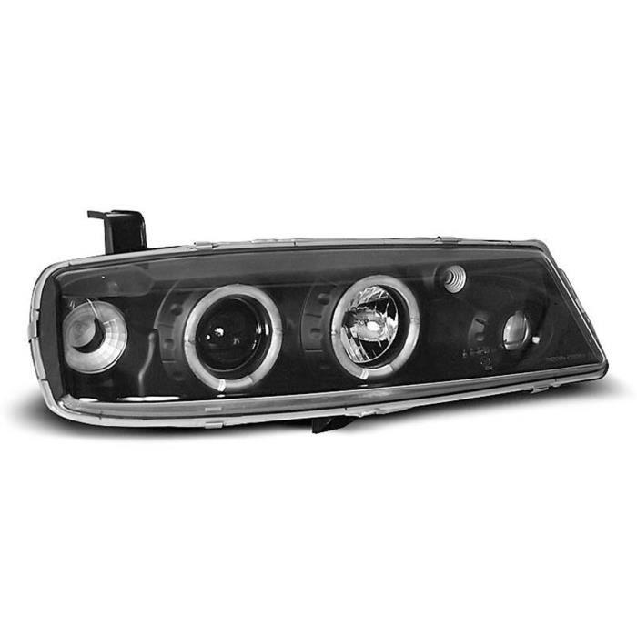 Paire de feux phares Opel Calibra 90-97 angel eyes noir