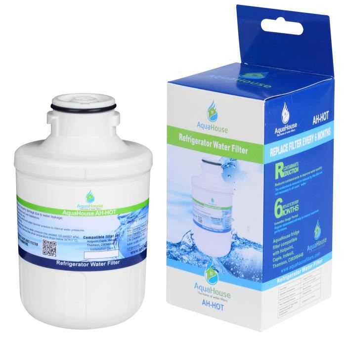 AH-HOT filtre à eau pour Hotpoint SXBD922FWD, Caple CAFF205, Indesit C00300448, Thomson THSBS90WDWH, Ariston, Electrolux Compatible