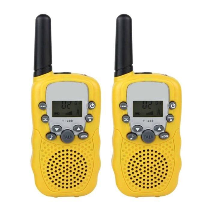Talkie Walkie enfant,1PairX enfant enfants talkie walkie jeu parental téléphone portable téléphone parlant jouet 3 5KM - Type Jaune