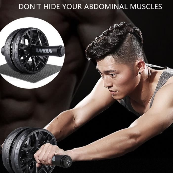 Exercice abdominal Abs Wheel Fitness Home Sport Training Equipment Unise JZS200330295