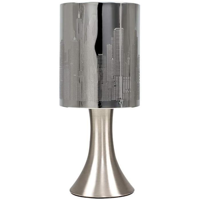 lampe de table MiniSun lampe tactile contemporaineHorizon New York avec abatjour gratteciel348