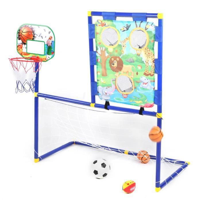 Atyhao Support de sports de plein air pour enfants Mini Support de Balle Extérieur But de Football Support de Basket Enfants 3 en 1