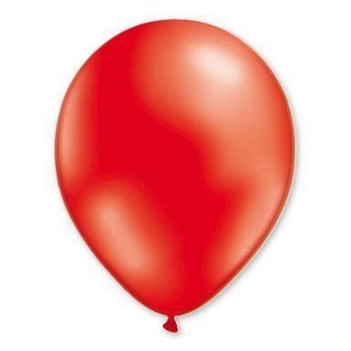 100 Ballons 100 % Latex Nacrés - 30 cm - Rouge