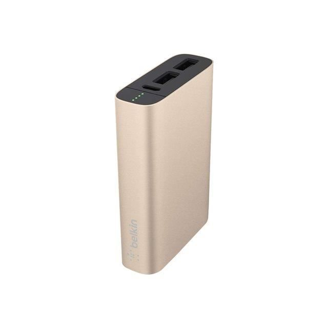 BELKIN Batterie externe 6600 mAh Or avec câble micro USB Noir
