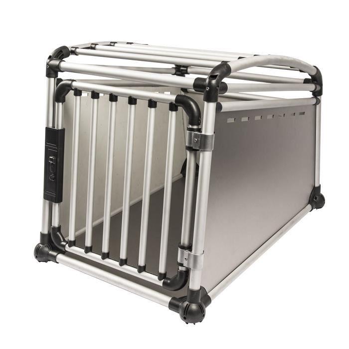 DUVO Cage de transport en alu pour voiture - 55x77x64 cm - Pour chien