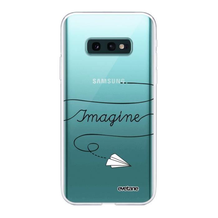 Coque Samsung Galaxy S10e 360 intégrale transparente Imagine Ecriture Tendance Design Evetane