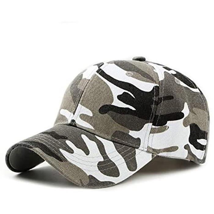 Homme Casquette de Camouflage de Style Militaire Casquette de Baseball Réglable