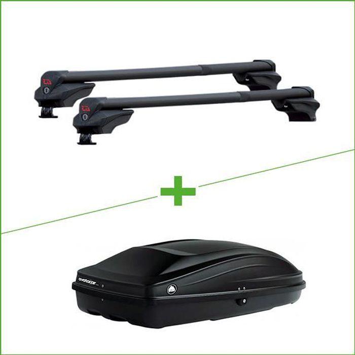 Pack barres et coffre de toit G3 Clop Inifnity - Wabb S pour Ford Focus III 5 portes - 3665597096736