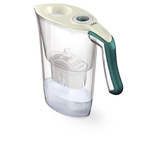 LAICA Carafe filtrante Tosca J35-HA, capacité Totale 2,3L, Couleur crème-Vert J35HA