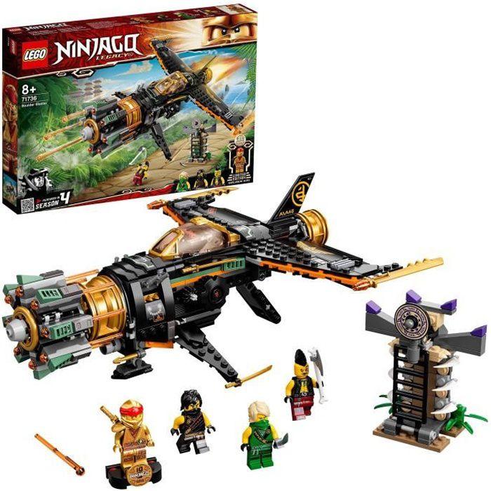 LEGO® NINJAGO® 71736 Le jet multi-missiles, jouet d'avion Boulder Blaster avec prison et figurine de Ninja Kai Or à collectionner