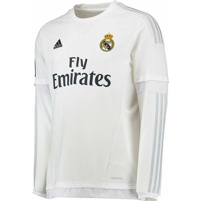 Maillot REAL MADRID Home JSY Y LS JR Blanc S12685