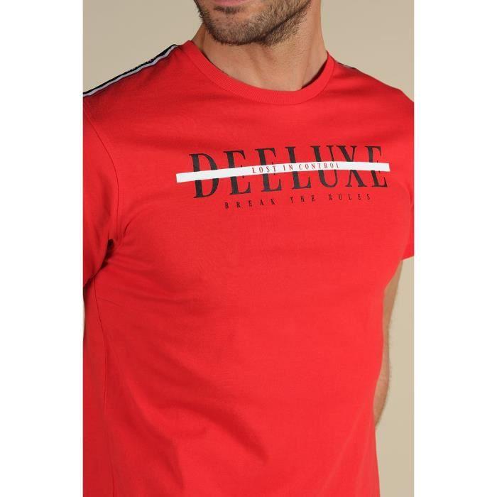 DEELUXE T-shirt logoté avec motif au dos RALF Red