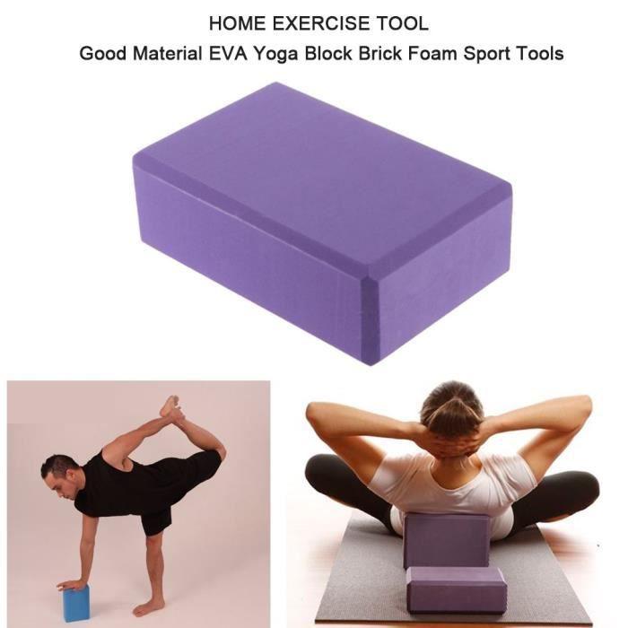 2 PCS Brique de bloc de yoga d'EVA - 23 * 15 * 8cm - Outil d'exercice à la maison
