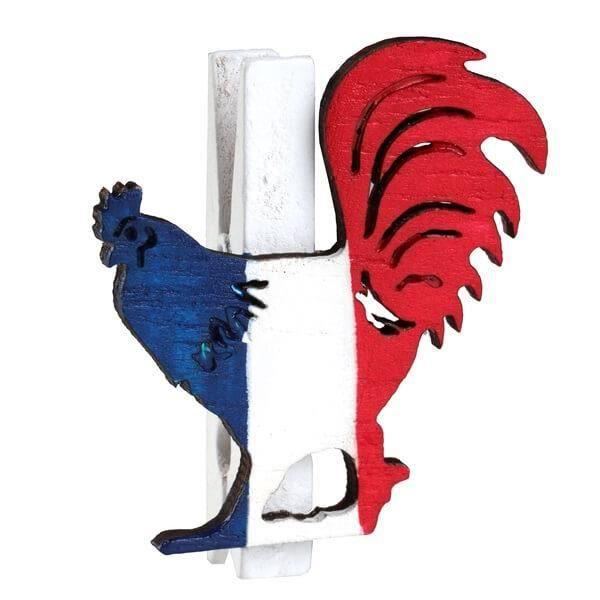 Pince coq tricolore France (x6) REF/5860