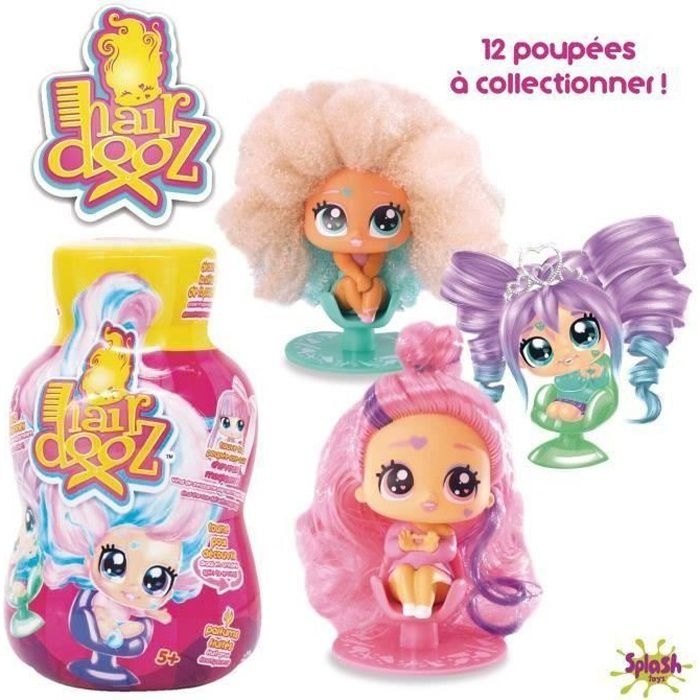 HAIRDOOZ - Poupée dans bouteille de shampoing Hairdooz glitter wave 2