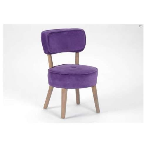 fauteuil r tro colier violet achat vente fauteuil cdiscount. Black Bedroom Furniture Sets. Home Design Ideas