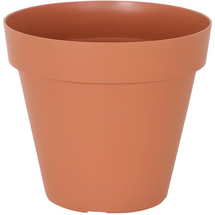 Pot de fleurs en terre cuite naturelle 23,5 x 20 cm