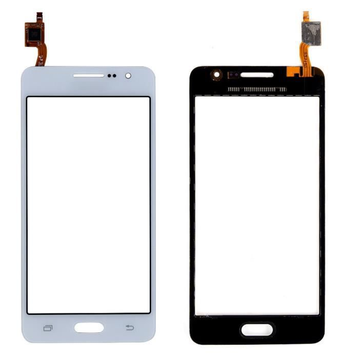 vitre tactile sans ecran lcd de rechange pour samsung galaxy grand prime sm g531f g531 blanc. Black Bedroom Furniture Sets. Home Design Ideas