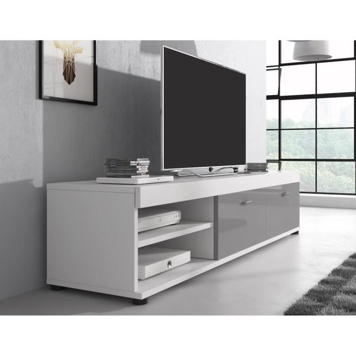 meuble tv gris laque achat vente meuble tv gris laque. Black Bedroom Furniture Sets. Home Design Ideas