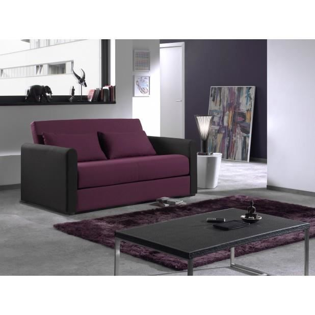canap convertible savana aubergine noir achat vente canap sofa divan les soldes sur. Black Bedroom Furniture Sets. Home Design Ideas