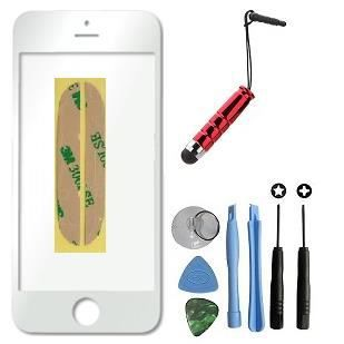 vitre apple iphone 5 blanc kit outils stylet offert pour reparer votre ecran lcd achat ecran. Black Bedroom Furniture Sets. Home Design Ideas