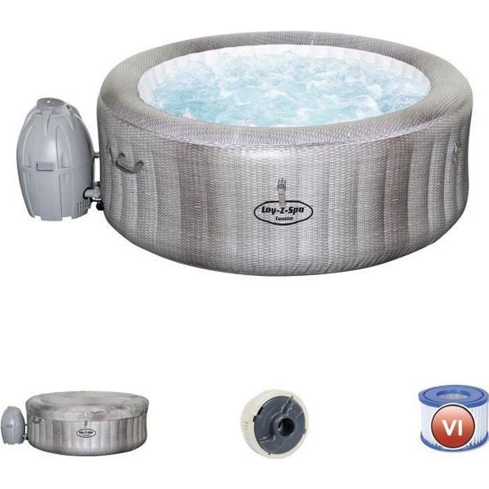Spa Gonflable Bestway Lay Z Spa Cancun Pour 2 4 Personnes Rond Achat Vente Spa Complet Kit Spa Spa Gonflable Bestway Lay Cdiscount