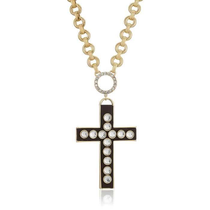 Betsey Johnson throwback betsey grand collier croix pendentif, 18 + SPDZY