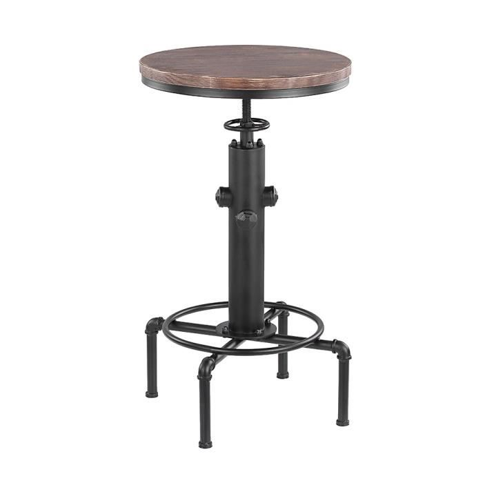 table de bar industriel achat vente table de bar industriel pas cher cdiscount. Black Bedroom Furniture Sets. Home Design Ideas