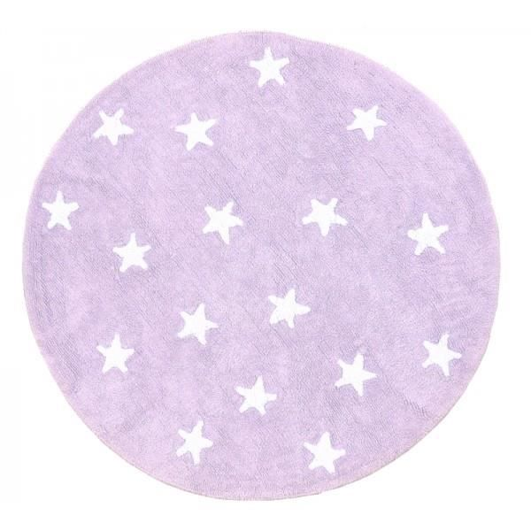 tapis de sol 140cm rond mauve toile blanche achat vente tapis cdiscount. Black Bedroom Furniture Sets. Home Design Ideas