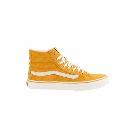 Chaussures Femme U Sk8 Hi Slim Vans Jaune Mourtarde Jaune ...