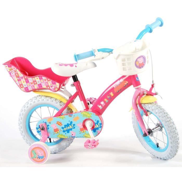 VÉLO ENFANT Vélo Enfant Fille Peppa Pig 12 Pouces Frein Avant
