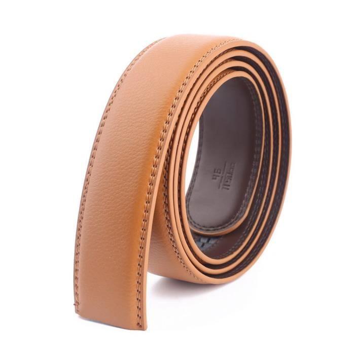 Hommes Ceinture pour En cuir Véritable Jeans Automatique Boucle 3.5 cm de large