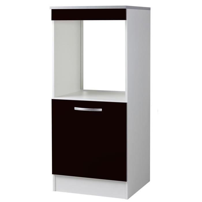 demi armoire four 60 1p marysa noir achat vente. Black Bedroom Furniture Sets. Home Design Ideas