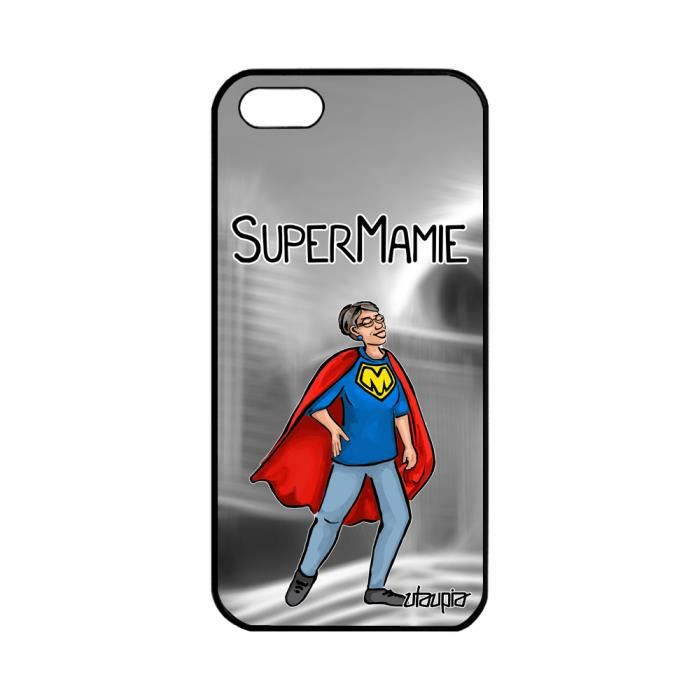 Coque silicone pour iPhone 5 5S SE super mamie ban