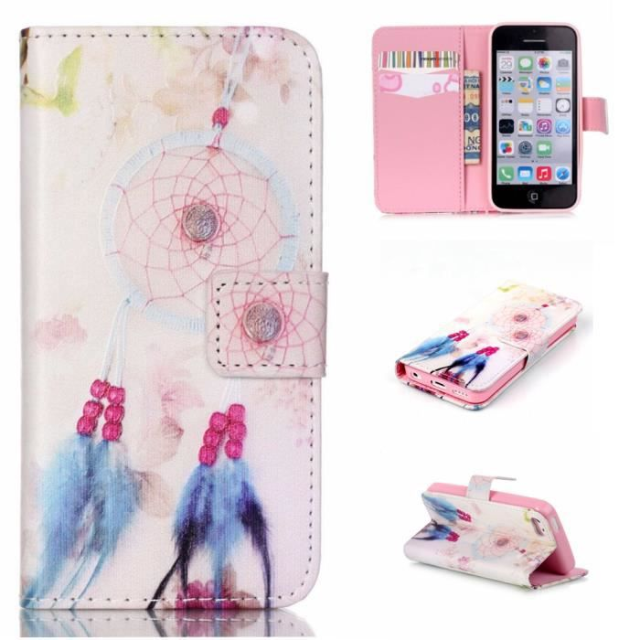 apple iphone 5c apple iphone 5c coque housse 201 tui portefeuille pu 1404
